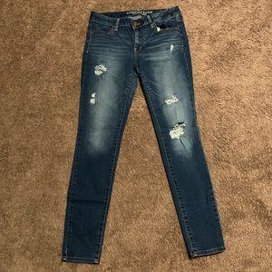 AEO Blue Jean Jegging Woman's 12 Long